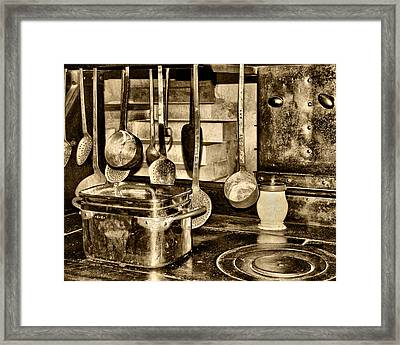 Cuisine At Chenonceau Framed Print