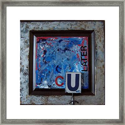 Culater Framed Print by Krista Ouellette
