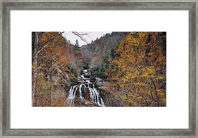 Cullasaja Falls In Autum Framed Print