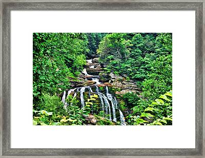 Framed Print featuring the photograph Cullasaja Falls by Kenny Francis