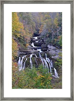 Cullasaja Falls Framed Print by Mary Anne Baker