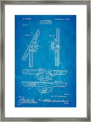 Cullmann Bevel And Square Patent  Art 1902 Blueprint Framed Print by Ian Monk