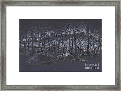 Culp's Hill Assault Framed Print