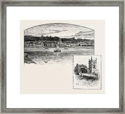 Culross, From The Pier Left, Culross Abbey Right Framed Print