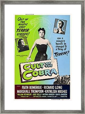 Cult Of The Cobra, L-r Kathleen Hughes Framed Print