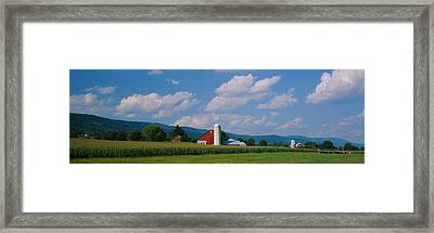 Cultivated Field In Front Of A Barn Framed Print
