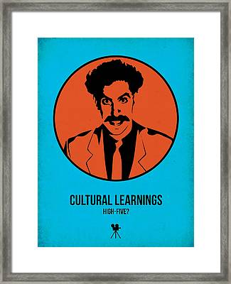 Cultural Learnings Framed Print by Naxart Studio