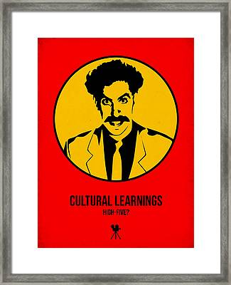 Cultural Learnings Poster 2 Framed Print by Naxart Studio