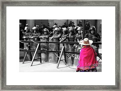 Culture Clash Framed Print by James Brunker