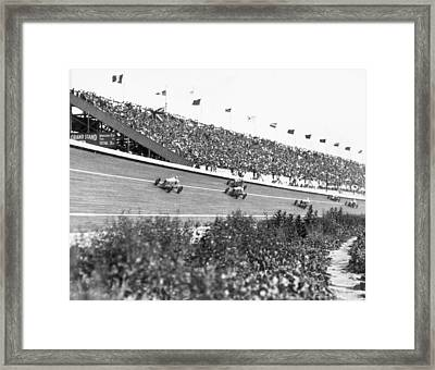 Culver City Speedway Action Framed Print