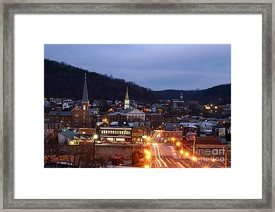 Cumberland At Night Framed Print by Jeannette Hunt