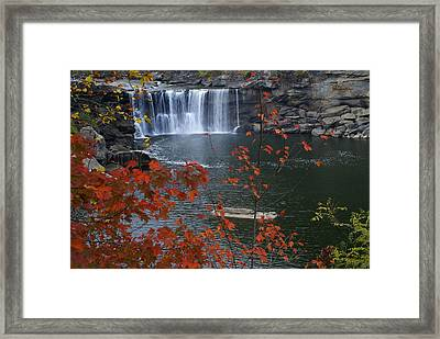 Cumberland Falls Framed Print by Bj Hodges