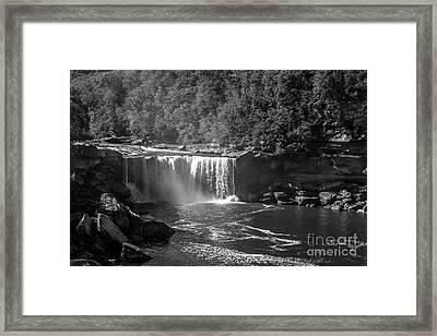 Cumberland Falls Five Bw Framed Print by Ken Frischkorn