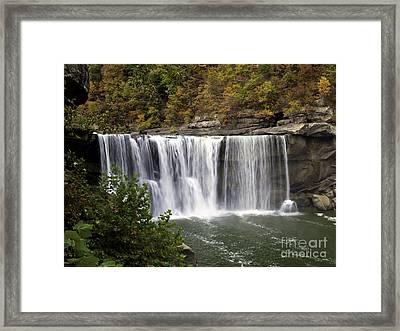 Cumberland Falls H Framed Print by Ken Frischkorn