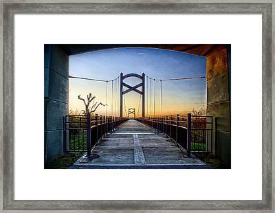 Cumberland River Pedestrian Bridge Framed Print by Patrick Collins