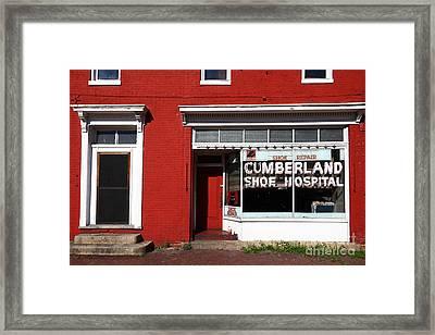 Cumberland Shoe Hospital Framed Print
