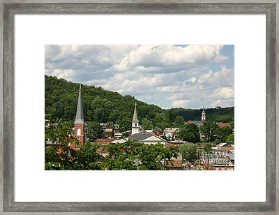Cumberland Steeples Framed Print by Jeannette Hunt
