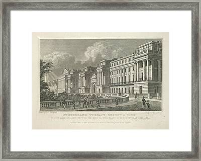 Cumberland Terrace Framed Print