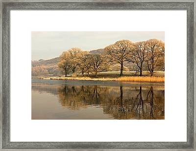 Cumbria, England  Lake Scenic Framed Print by John Short