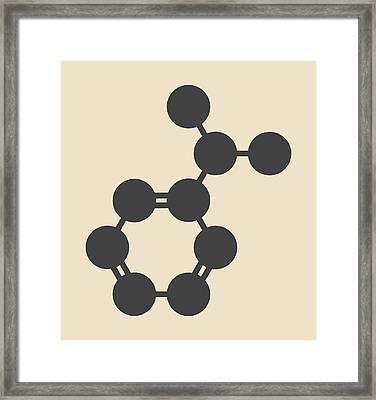 Cumene Hydrocarbon Molecule Framed Print by Molekuul