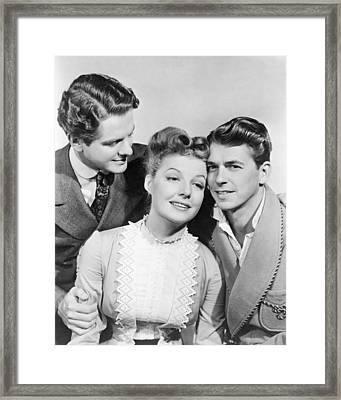 Cummings, Sheridan And Reagan Framed Print by Underwood Archives