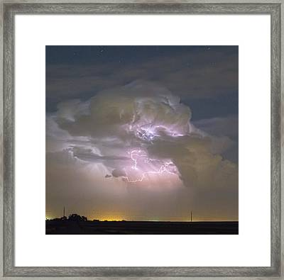 Cumulonimbus Cloud Explosion Portrait Framed Print by James BO  Insogna