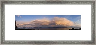 Cumulonimbus Clouds Over The Kenai Framed Print