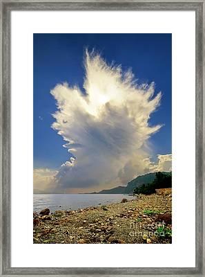 Cumulonimbus Incus Cloud Rising Framed Print