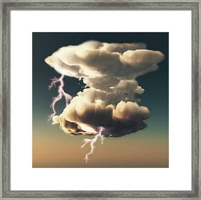 Cumulonimbus Storm Cloud Framed Print by Mikkel Juul Jensen