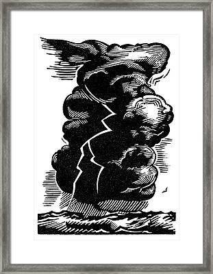 Cumulonimbus Thunderstorm Framed Print