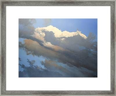 Framed Print featuring the painting Cumulus 2 by Cap Pannell