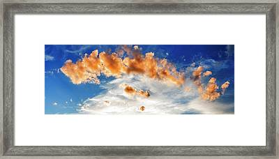 Cumulus Clouds At Sunset Framed Print