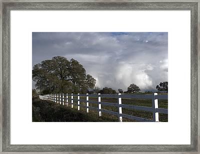 Cumulus Clouds In Stockton Framed Print