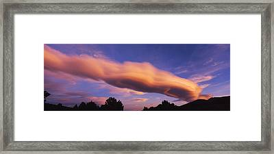 Cumulus Clouds In The Sky At Dusk, Paso Framed Print