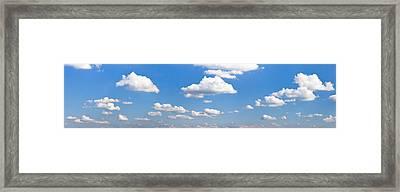 Cumulus Clouds In The Sky, Baden Framed Print