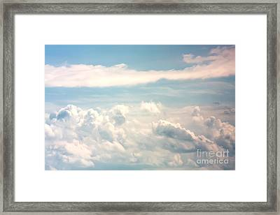 Cumulus Clouds Framed Print