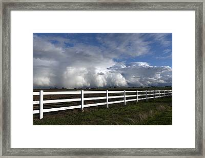 Cumulus Clouds Over Stockton Framed Print