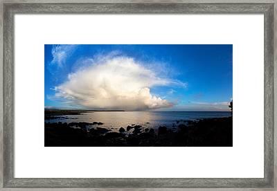 Cumulus Clouds Over The Sea, Gold Framed Print
