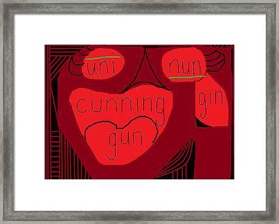 Cunning  Framed Print by Anita Dale Livaditis