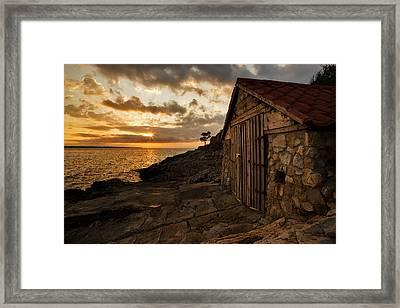Cunski Beach At Sunrise Framed Print