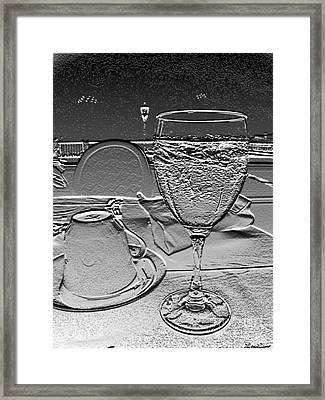 Cup And Glass Framed Print by Lyric Lucas