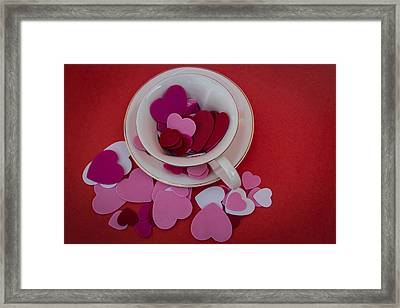 Cup Full Of Love Framed Print by Patrice Zinck