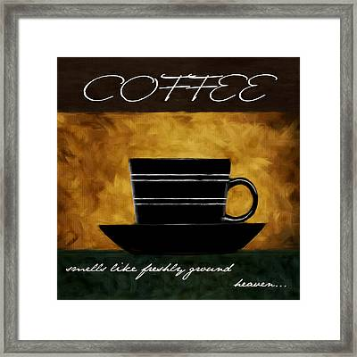 Cup O' Coffee Framed Print by Lourry Legarde
