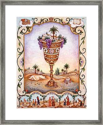 Cup Of Blessings - Gefen Framed Print by Michoel Muchnik