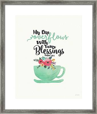 Cup Of Blessings Framed Print