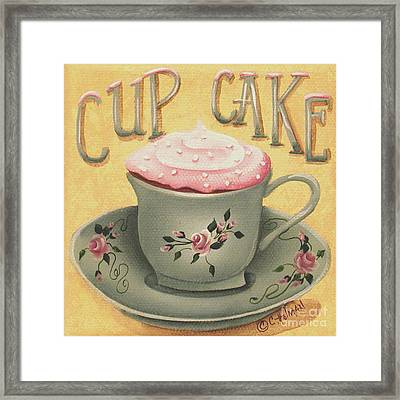 Cup Of Cake Framed Print by Catherine Holman
