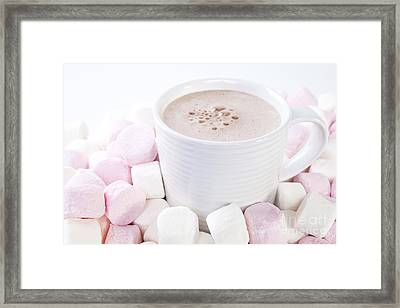 Cup Of Chocolate And Marshmallows Framed Print by Colin and Linda McKie