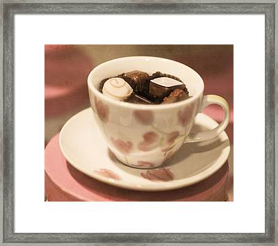 Cup Of Chocolate Framed Print by Juli Scalzi