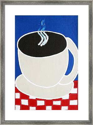 Cup Of Coffee Framed Print by Matthew Brzostoski