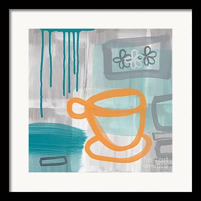 Blue Grey Framed Prints